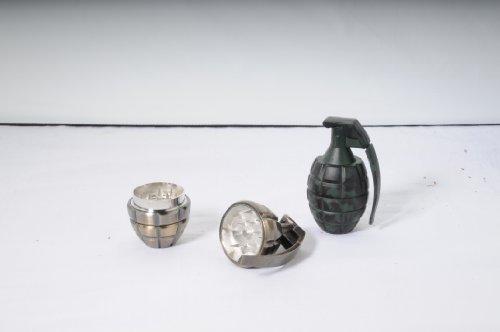 Metall Grinder 2 teilig mit Sieb Siebgrinder Siebkammer Polinator Handgranaten granate Handgranate design