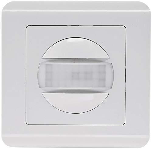 Bewegungsmelder 160° Unterputz 9m Detektion 2-Draht Technik Ersatz für Lichtschalter Wandeinbau Sensor UP Einbau Weiß