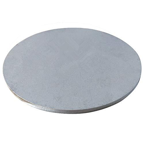 Asitlf 304 chapas de Acero Inoxidable de 5 mm Espesor de la Hoja Redonda DIY Moldes,Diameter:180mm