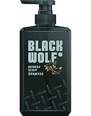 BLACK WOLF(ブラックウルフ) リフレッシュ スカルプシャンプー380mL 黒髪を根元からリフレッシュ/頭皮アブラ・ニオイの原因を落とす/フレッシュシトラスの香り/ハーブ成分配合(チャ葉エキス、カキタンニン、ホップ花エキス)