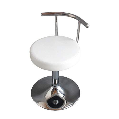 GST Drehen des Arbeitsstuhls, des Computerstuhls, des Kleinen Arbeitshockers, des Sipi-Gewebes Arcckenlehnenklinik-Salons Manikürelabor Hydraulischer Rollen42-55 cm (Farbe : Weiß)