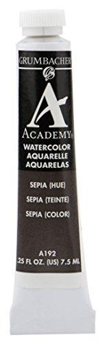Grumbacher Academy Watercolor Paint, 7.5ml/0.25 Ounce, Sepia Hue (A192)