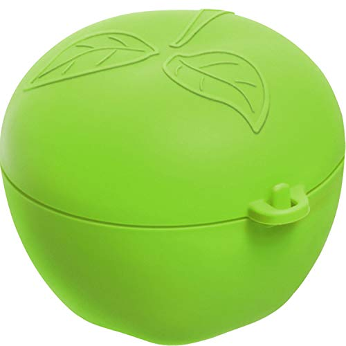 Rotho Fun Apfelbox, Kunststoff (PP) BPA-frei, grün, 0,55l (12,4 x 11,0 x 9,5 cm)
