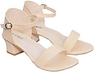 SK-STYLE Women and Girls Casual Formals Block Heel Sandals