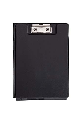 Maul Schreibmappe mit Folienüberzug und Durchschreibschutz, DIN A5 hoch, Innenfach, 8 mm Klemmweite, Schwarz