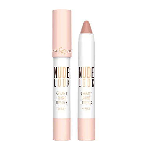 Golden Rose Nude Look Creamy Shine Lipstick (01 Nude)