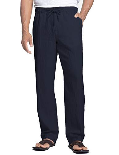 COOFANDY Pantalones Hombre Cremallera Pantalones Yoga algodón al Aire Libre Verano Cómodo Suelto Largo 7/8