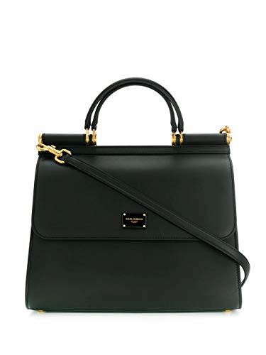 DOLCE E GABBANA Luxury Fashion Damen BB6621AV38580999 Schwarz Leder Handtaschen | Jahreszeit Permanent