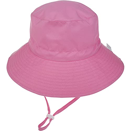 Unisexo Bebé Sombrero de Sol Rosa Gorro de Pescador Infantil Verano Exteriores Protección Solar ala Ancha Gorro de Playa para 2-6 Años Niña Niño