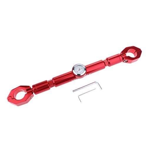 Homyl 1 Stück Motorrad Lenker Cross Bar mit Uhr Verstellbare Motorrad 7/8 ''22mm Lenker Crossbar Für KTM 200 2013-2014 - rot