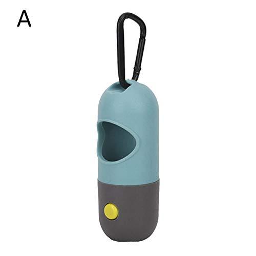 YULEW Biologisch abbaubarer Hundekotbeutel-Spender LED Light Waste Pick Up Müllsäcke Thick-A_1
