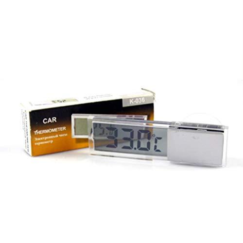 Sairis Sucker Design-LCD-Vehicle-mounted Auto-Digital-Thermometer Celsius Fahrenheit externer Sensor Elektronische Tester-transparent und silber