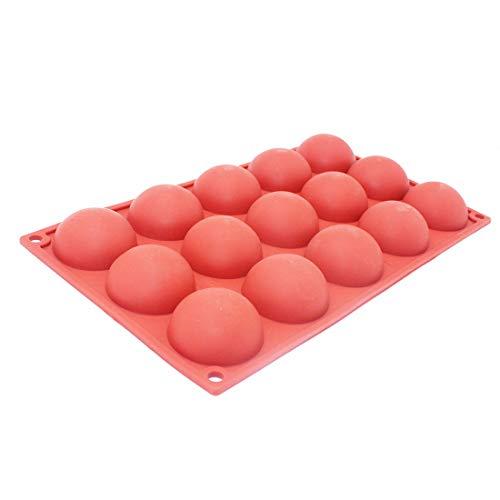 X-Haibei Round Hemisphere Dome Cake Jello Soap Bath Bomb Silicone Mold Supplies