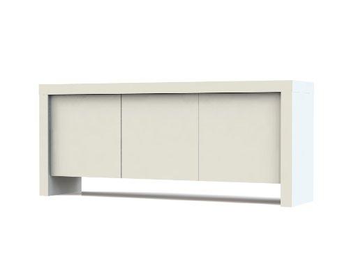 Tema Home Kobe Sideboard mit 3Türen reinweiß matt, 188x 45x 79cm, weiß