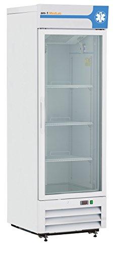 am-1 AM-LAB-1D-RGE-16 MedLab Essential Glass Door 16 cu. ft. Medical/Laboratory Refrigerator, White