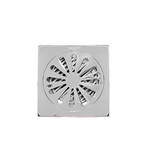 ZTHC luchtverfrisser en anti-waterafvoer op de vloer, geschikt voor badkamer, douche, wasmachine, balkon (vierkant)