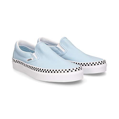 Vans U Classic Slip-ON (Check Foxing) Cool Blue/White VN0A38F7VLS 4.5
