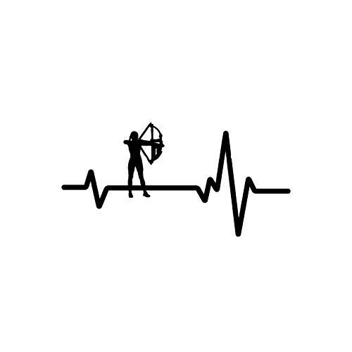 ZCZWQ Aufkleber Herz Jumper Bogenschießen Frau Bow Arrow Persönlichkeit Vinyl Poster Auto Aufkleber Schwarz/Silber (Color : Black)
