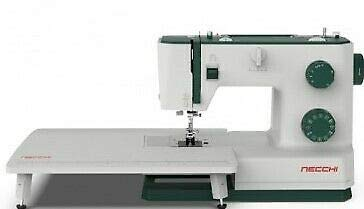 Necchi Q421A - Máquina de coser, interior de fundición a presión, de aluminio, carcasa de ABS, verde, normal