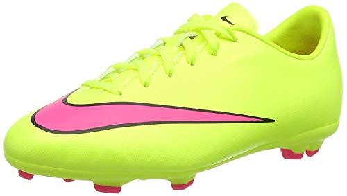 Nike Unisex-Kinder Jr. Mercurial Victory V FG Fußballschuhe, Volt Hyper Pink Black, 33