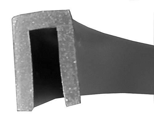 EUTRAS Kantenschutz 1801 Fassungsprofil FP3003 Kantenschutz Dichtungsgummi-Spaltmaß 3,0 mm, Schwarz, 3 m