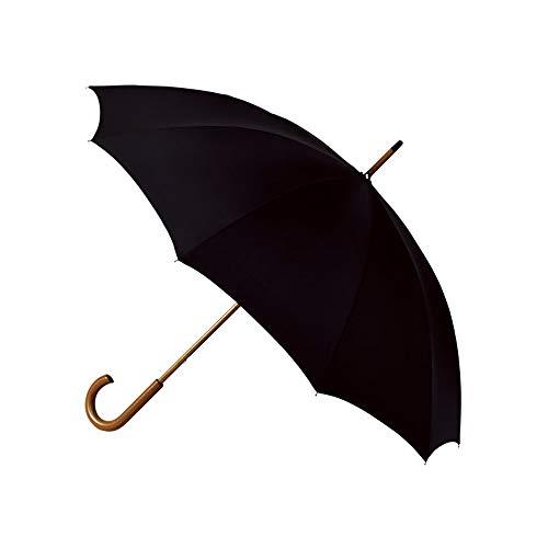 Falconetti Paraplu, lang, uniseks, diameter van meer dan 1 meter, automatisch openingssysteem, robuust met handvat en handvat van hout, donkerblauw