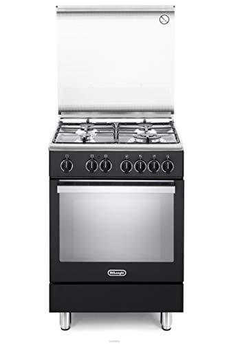 Cucina a gas con forno elettrico, N°4 Fuochi, 60x60 cm, colore Antracite, Linea Premium