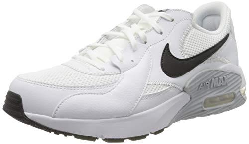 Nike Air MAX Excee, Zapatillas Hombre, Blanco (Platino Puro Blanco/Negro), 42 EU