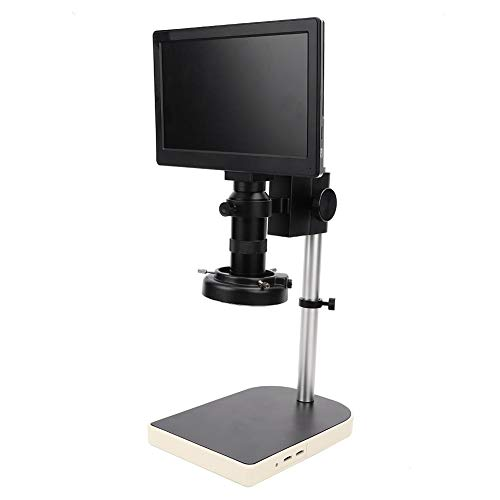 100X 2MP Digital USB Microscope,9 Inch Display 1080P Full HD Industrial Maintenance Electronic Microscopes Magnifier with LED Ring Light Support 64GB TF Card (US)