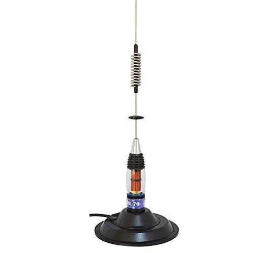 Antena CB PNI ML70 Conector, Base magnética de 145 mm incluida, 70 cm, Cable RG58 de 4 m Incluido