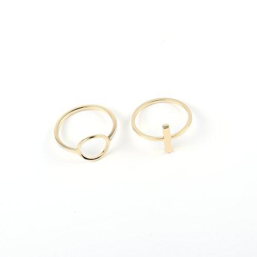 Melissa & Rosella semplice anello barretta rotonda in lega