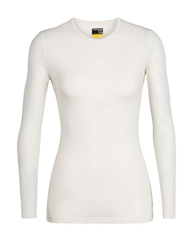 icebreaker Damen Funktionsshirt 175 Everyday LS Crewe Merino Baselayer, Snow, XS, 104471