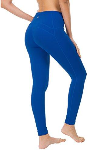 QUEENIEKE Polainas de Yoga para Mujeres Nueve Pantalones Medios de Correr Power Flex de Alta Cintura para Gimnasio Color Azul Tamaño S