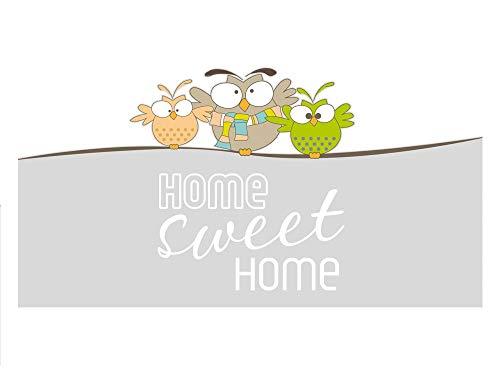 GRAZDesign raamfolie Home Sweet Home - privacy film uilen - Melkglasfolie gang / 991358