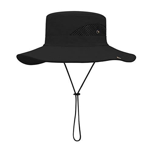 NYSYZSM Sombrero de Cubo al Aire Libre Sombreros de Primavera y Verano para Hombres, Anti-Ultravioleta, Transpirable y con sombrilla Moda Sombrero de Pescador |Sombrero de Pescador para Hombre |
