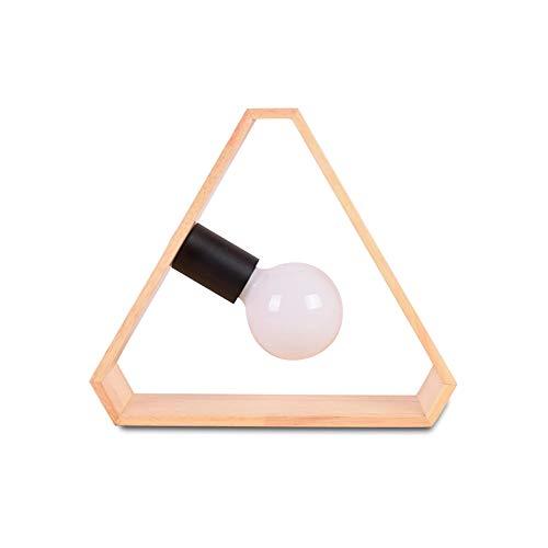 Nordic Table De Chevet Lampes, Minimaliste Moderne En Bois Décoration Mini Lampe De Table Portable Salon Chambre Dortoir Bureau Lumière En Bois Massif Bureau D'étudiants (Design : B)