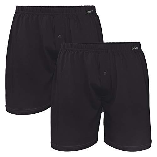 Gomati Herren Jersey Boxershorts (2 Stück) Stretch Unterhose aus Baumwolle - Schwarz L