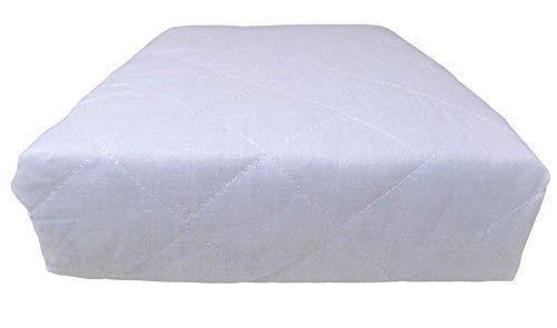 2 x double qualité Hôtel Matelassé Luxe Blanc Profond monté anti Allergénique Protège matelas 137 x 191 x 25cm