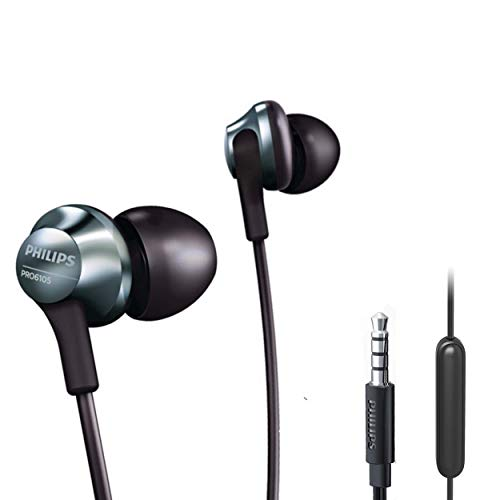 Philips Pro Wired Earbuds, Headphones with Mic, Powerful Bass, Lightweight, Hi-Res Audio, Comfort Fit