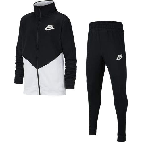 Nike NSW Core TRK Ste Ply Futura Survetements Mixte Enfant, Black/White/White, FR : M (Taille Fabricant : M)