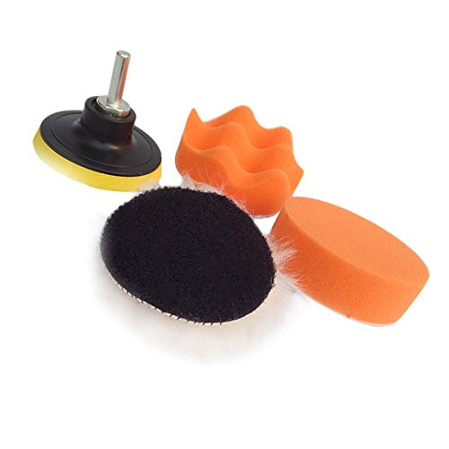 Ofgcfbvxd Polishing pad Polieren und Polieren von Wollauto-Schwamm 5-teilig Set 3-7-Zoll-Auto-Schönheit Wachs-Polierkissen Car polishing pad (Color : 6 inches, Size : One Size)