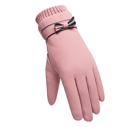 Guantes Gloves Guantes De Moda Para Mujer, A Prueba De Viento, Impermeables, De Felpa Interna, Cálidos, Guantes Para Mujer, Con Pantalla Táctil, Guantes Suaves Para Mujer, Talla Única, Rosa