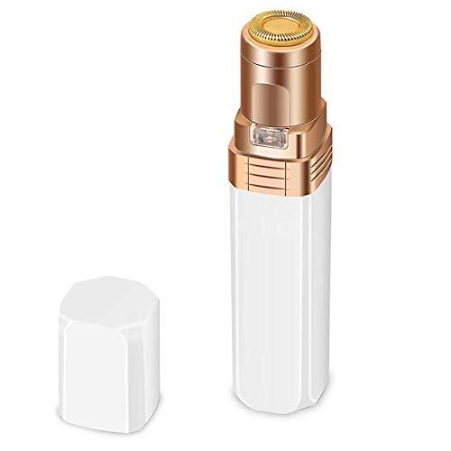 Lady Mini Appareil électrique de Épilation, Rouge à lèvres Batterie à Sec Dispositif de Rasage épilation du Visage Appareil Parage Rasage Équipement de beauté,Blanc