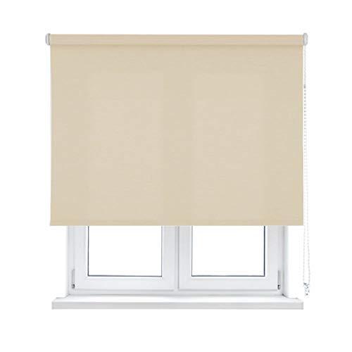 KAATEN Estor Enrollable translúcido-Básico, Ivory, 150x250