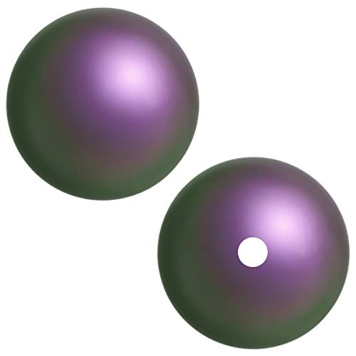 Swarovski Crystal, 5810 Crystal Round Pearl Beads, 8mm, Iridescent Purple, 50 pc Strand