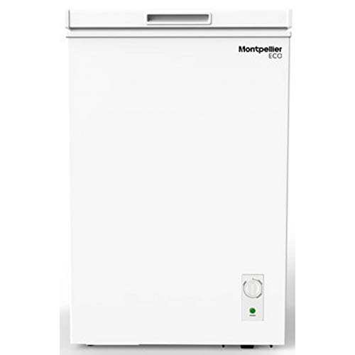 Montpellier MCF99W-ECO 99 Litre Chest Freezer in White - A+ Rated | 2 Year Warranty - Suitable for Outbuildings and Garages