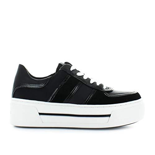 Michael Kors Damen Schuhe Sneakers Camden Leder 43F8CDFS2L Schwarz Neu