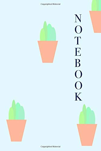 """Notebook: 6x9 """" - Lined Notebook, Bullet Journal, Diary, Lecture - 110 Pages - Pastel Cactus Notebook Cover PDF Books"""