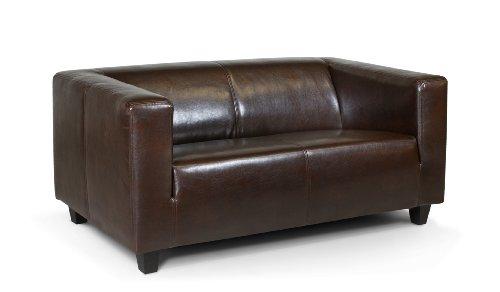 Preisvergleich Produktbild Collection AB 2-Sitzer Sofa Kuba 149 x 88 cm,  Kunstleder,  braun
