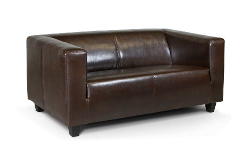 Collection AB 2-Sitzer Sofa Kuba 149 x 88 cm, Kunstleder, braun